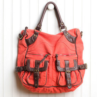 hacienda tote bag in coral red - $49.99 : ShopRuche.com, Vintage Inspired Clothing, Affordable Clothes, Eco friendly Fashion