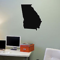 Wall Mural Vinyl Decal Sticker Georgia Map AL327
