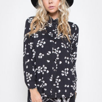 Scatterbrain Button Up Blouse