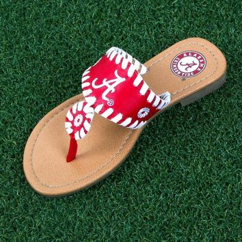ONETOW NCAA Alabama Crimson Tide Whipstitch Sandals