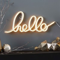 LED Light-Up Word Objects - Hello