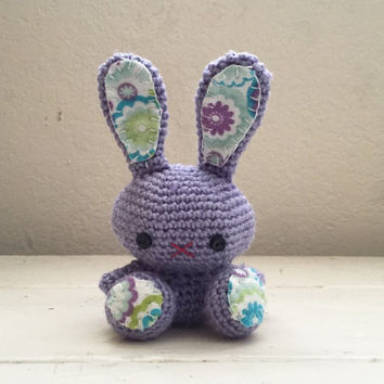 Amigurumi bunny, crochet bunny, lavender bunny, bunny tail, rabbit doll, amigurumi animal, crochet amigurumi, ready to ship, handmade,kawaii