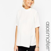 ASOS Maternity | ASOS Maternity T-Shirt With High Neck And Split Back at ASOS