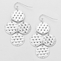 Weave Basket Earrings Silver