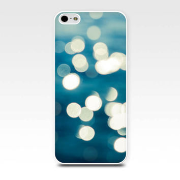 bokeh iphone case 5s iphone 4s case abstract iphone case beach water teal gold blue iphone 4 case 5 nautical iphone case water sparkle aqua