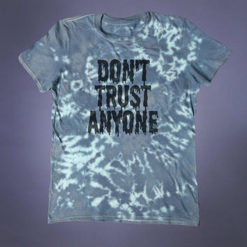 Don't Trust Anyone Slogan Tee Soft Grunge Occult Illuminati Creepy Cute Emo Alternative T-shirt