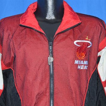 90s Miami Heat Nylon Windbreaker Jacket Small