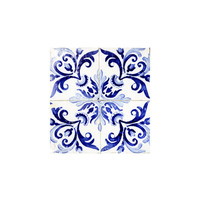 tiles pattern VI - Azulejos, Portuguese tiles Art Print by Ingrid Beddoes