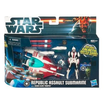 STAR WARS Class 1 Fleet Vehicles - REPUBLIC SUB with SCUBA CLONE TROOPER