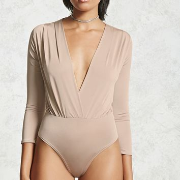 Satin Surplice Bodysuit