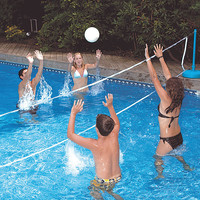 Pool Volleyball and Badminton Combo