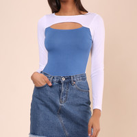 Jac Parker Two Tone Keyhole Top