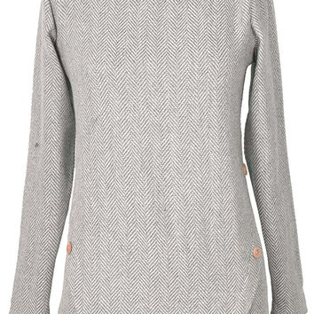 Cupshe Suede Club Herringbone Woolen Top