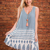 Love And Laughter Dress, Navy