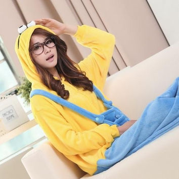 New style Adult Kigurumi Unisex Cosplay Animal Hoodie Pajamas Costume Onesuit Outfit Sleepwear leisure wear56336 = 1932397828