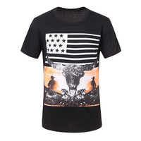 Summer Casual Short Sleeve Print Men T-shirts [6543692419]