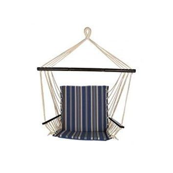 Laid Back - Reversible Easy hang Island Rope Hammock Chair with Arm Rests -Oceanview Stripe