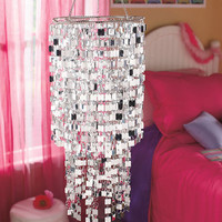 SHIMMERING BLING ICICLES HANGING CHANDELIER TEEN TWEEN DORM BED ROOM HOME DECOR