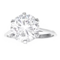 Gubelin Art Deco 3.86 Carat Diamond Engagement Ring G VS1