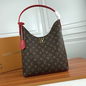 LV Louis Vuitton MONOGRAM LEATHER LOCKME HOBO SHOULDER BAG