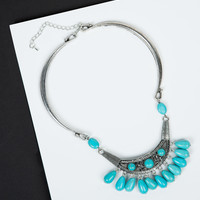 Chandelier Turquoise Collar Necklace