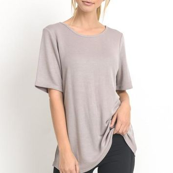 Crisscross Athleisure Top- Light Violet
