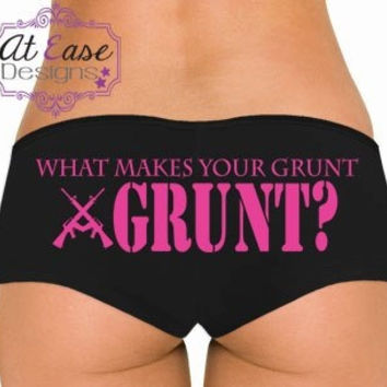 GRUNT military panties infantry Undies military USMC navy army USAF