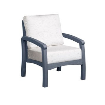Bay Breeze Frequency Parchment Arm Chair With Cushion C.R. Plastic Products Arm