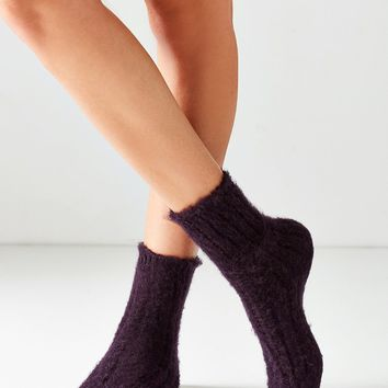 Out From Under Fuzzy Ribbed Slouchy Sock
