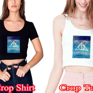 "Harry Potter Collage Quote Book Ramayani 9cbc4f38-d66a-4951-8335-aa3697fae404for crop shirt and crop tank sexy shirt women s m l xl 2xl ""NS"""