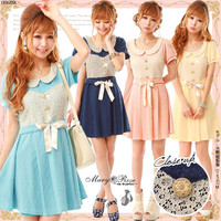 Rakuten: Sweet color flare lace bustie dress- Shopping Japanese products from Japan