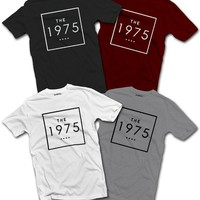 The 1975 Square Logo T-SHIRT Indie Band UK Tour (Small, Burgundy)