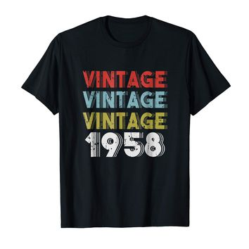 Retro Vintage Born In 1958 - 60th Birthday Gift