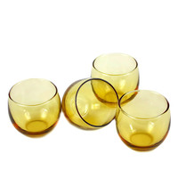 Roly Poly Glasses, Amber Yellow