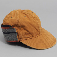 the hill side - cold weather deck cap selvedge brown twill