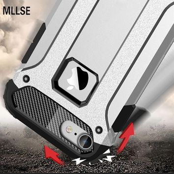 MLLSE Strong Hybrid Tough Shockproof Armor Phone Back Case for iPhone Xr 5S SE 6S Plus 8 7 Xs MAX Hard Rugged Impact Cover Funda