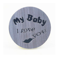 """""""My baby, I love you"""" Silver Floating Plate"""
