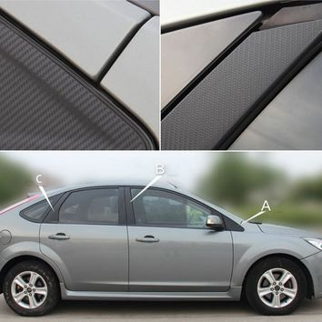 Auto Window Frame ABC Pillar Carbon Fiber Protection Film Car-styling Sticker And Decal For Ford Focus MK2 2006-2015 Accessories