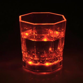 LED Glowing Wine Glass Water liquid Inductive Light-up karaoke bar nightclub Paty shine cup KTV  Nightclub