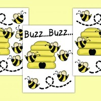 Honey Bumble Bee Decals Wall Art Stickers Baby Nursery Decor [981] - $12.00 : DeCamp Studios, The best selection of nursery wall murals, childrens wallpaper border, teen girl or boy wall art decals, baby premade scrapbook pages, and digital printable clip