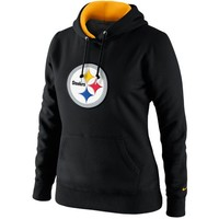 Nike Pittsburgh Steelers Ladies Tailgater Pullover Hoodie - Black