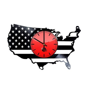 USA HANDMADE VINYL RECORD WALL CLOCK FAN GIFT