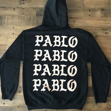 Pablo Pablo Pablo Paris Pop Up Shop Black Hoodie / I Feel Like Pablo Tour / Yeezy Merch