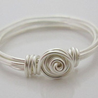 Rose Wire Wrapped Ring Custom Size by jolcreations on Etsy