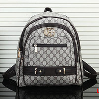 Gucci Woman Men Leather Fashion Backpack Shoulder Bag Daypack Rucksack
