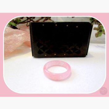 """""""Stone of Dreams"""" Pink Jade Ring Size 9.5"""