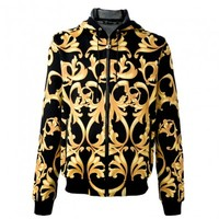 Versace - FLEECE BAROQUE CARDIGAN - Elite Store