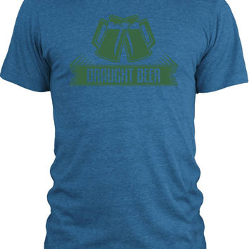 Big Texas Draught Beer Steins (Green) Vintage Tri-Blend T-Shirt