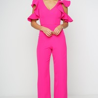 Lexxie Jumpsuit - Hot Pink