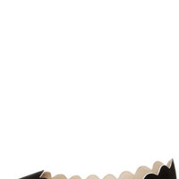 LuLu*s Scallopini Black Scalloped & Pointed Flats